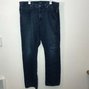 Fidelity Mens Jeans Straight Leg Denim Dark Wash